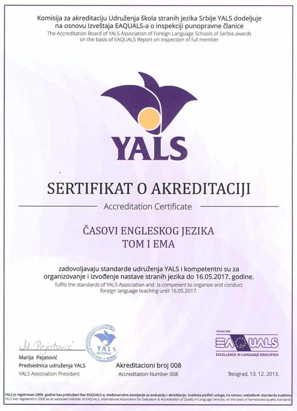 YALS--diploma